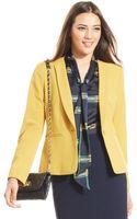 Nine West Collarless Singlebutton Jacket - Lyst