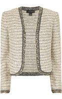 St. John Ribbon Tweed Bolero Jacket - Lyst