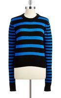 MICHAEL Michael Kors Cropped Striped Sweater - Lyst