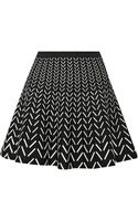 Ohne Titel Chevron Patterned Stretch Knit Mini Skirt - Lyst