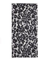 Diane von Furstenberg Cashmere Vault Kinley Vintage Leopard Scarf - Lyst