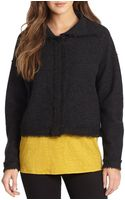 Eileen Fisher Funnel Neck Boiled Wool Jacket - Lyst