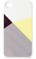 Blissfulcase Iphone 4 Lemon Color Block Stripe Print Case - Lyst