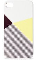Blissfulcase Iphone 4 Lemon Color Block Stripe Print Case - Lyst