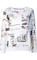 Mm6 By Maison Martin Margiela Graphic Sweatshirt - Lyst