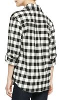Alice + Olivia Check Button-down Blouse - Lyst