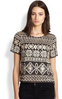 Needle & Thread Beaded Embroidered Sheer Top - Lyst