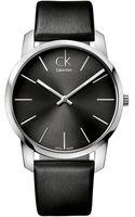 Calvin Klein Mens Swiss City Black Leather Strap 43mm - Lyst