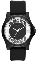 Marc By Marc Jacobs Womens Henry Black Silicone Strap Watch 41mm - Lyst