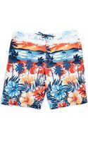 Tommy Bahama Tropical Print Swim Trunks - Lyst