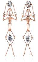 Daniela Villegas Frog Skeleton Earrings - Lyst