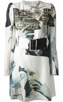 Carven Printed Belted Dress - Lyst