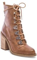 Luxury Rebel Mara Lace Up Booties - Lyst