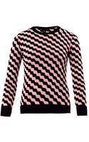 Jonathan Saunders Zoe Wave Intarsiaknit Sweater - Lyst