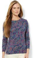 Lauren by Ralph Lauren Long-sleeve Paisley-print Top - Lyst