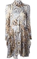 Philosophy di Alberta Ferretti Abstract Floral Print Shirt Dress - Lyst