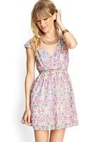 Forever 21 Mirrored Surplice Floral Dress - Lyst