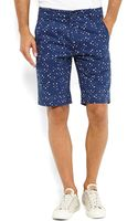 Levi's Blue Dotted Chino Shorts - Lyst