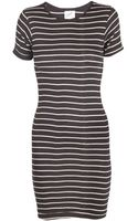 Edith A. Miller Stripe Jersey Mini Dress - Lyst