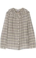 M Missoni Plaid Cotton and Silk Blend Shirt - Lyst