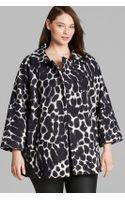 Marina Rinaldi Plus Nocciola Print Coat - Lyst
