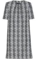 Saint Laurent Wool Dress - Lyst