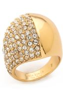 Kate Spade Light The Lanterns Dome Ring  Cleargold - Lyst