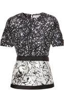 Balenciaga Printed Silkblend Top - Lyst