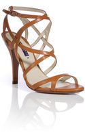 Ralph Lauren Collection Leather Strappy Blienna Sandals - Lyst