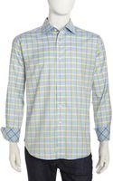 Robert Graham James Longsleeve Check Poplin Shirt Blue Xxl - Lyst