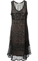 Jean Paul Gaultier Sleeveless Lace Dress - Lyst