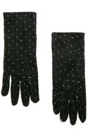 Mango Metallic Polka-dot Gloves - Lyst
