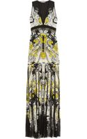 Roberto Cavalli Printed Silk Chiffon and Lace Gown - Lyst