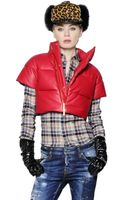 DSquared2 Nappa Leather Quilted Down Jacket - Lyst