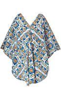 Easton Pearson Take Away Diamond Cotton Tunic Dress - Lyst