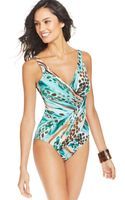 Miraclesuit Printed One-piece Swimsuit - Lyst
