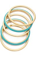 Michael Kors 5 Stack Bangle Bracelet - Lyst
