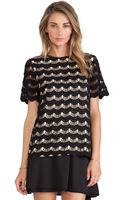 Kate Spade Scallop Lace Top - Lyst