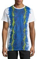 Just Cavalli Graphic Snakeprint Jersey Tee - Lyst