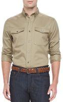Ami Military Longsleeve Shirt - Lyst