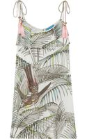 Matthew Williamson Songbird Printed Cotton and Silkblend Mini Dress - Lyst