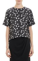 Band Of Outsiders Raspberry Print Short  Sleeve Top - Lyst