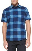 Rag & Bone Shortsleeve Check Buttondown Shirt - Lyst