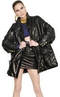 Balmain Oversized Quilted Nappa Leather Jacket - Lyst