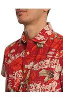 Woolrich Bruce Shortsleeved Red Shirt - Lyst