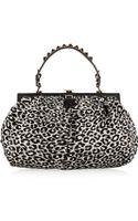 Valentino Leopardprint Calf Hair Shoulder Bag - Lyst