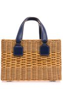Mark Cross Manray Rattan Wicker Box Bag - Lyst
