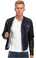 DSquared2 Leather Sleeves Biker Jacket - Lyst
