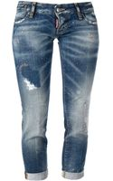 DSquared2 Cropped Skinny Jeans - Lyst
