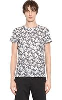 Jil Sander Geometric Printed Cotton T-shirt - Lyst
